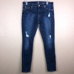 7 for All Mankind Gwenevere Distressed Jeans Sz 30